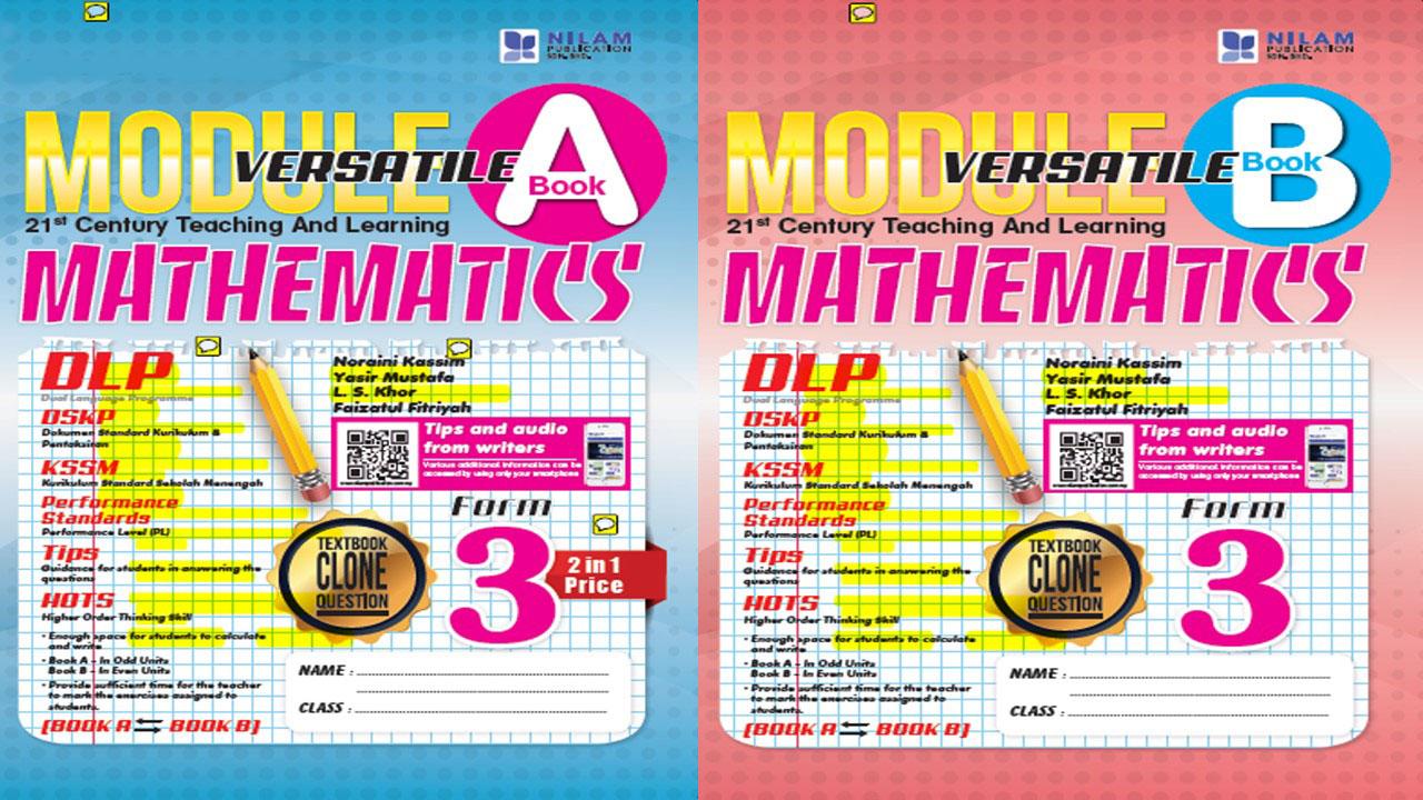 Modul Versatil 2 Dalam 1 Matematik Tingkatan 3 2019 (BI)