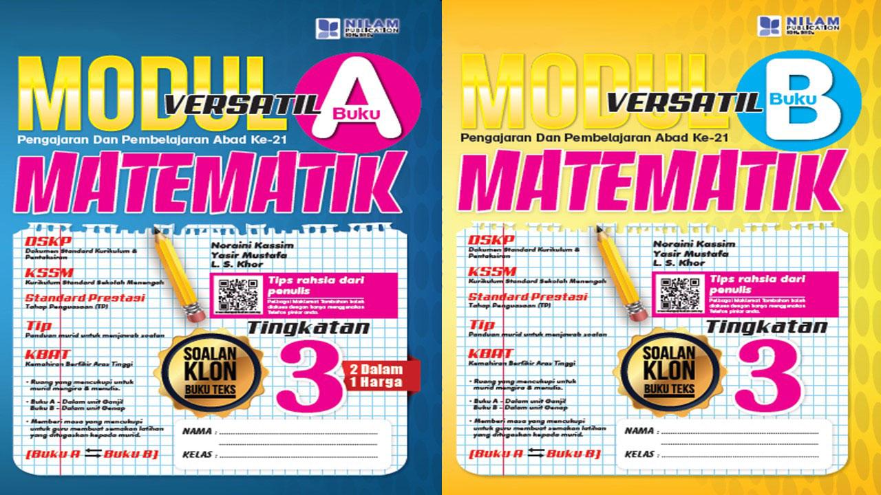 Modul Versatil 2 Dalam 1 Matematik Tingkatan 3 2019 (BM)