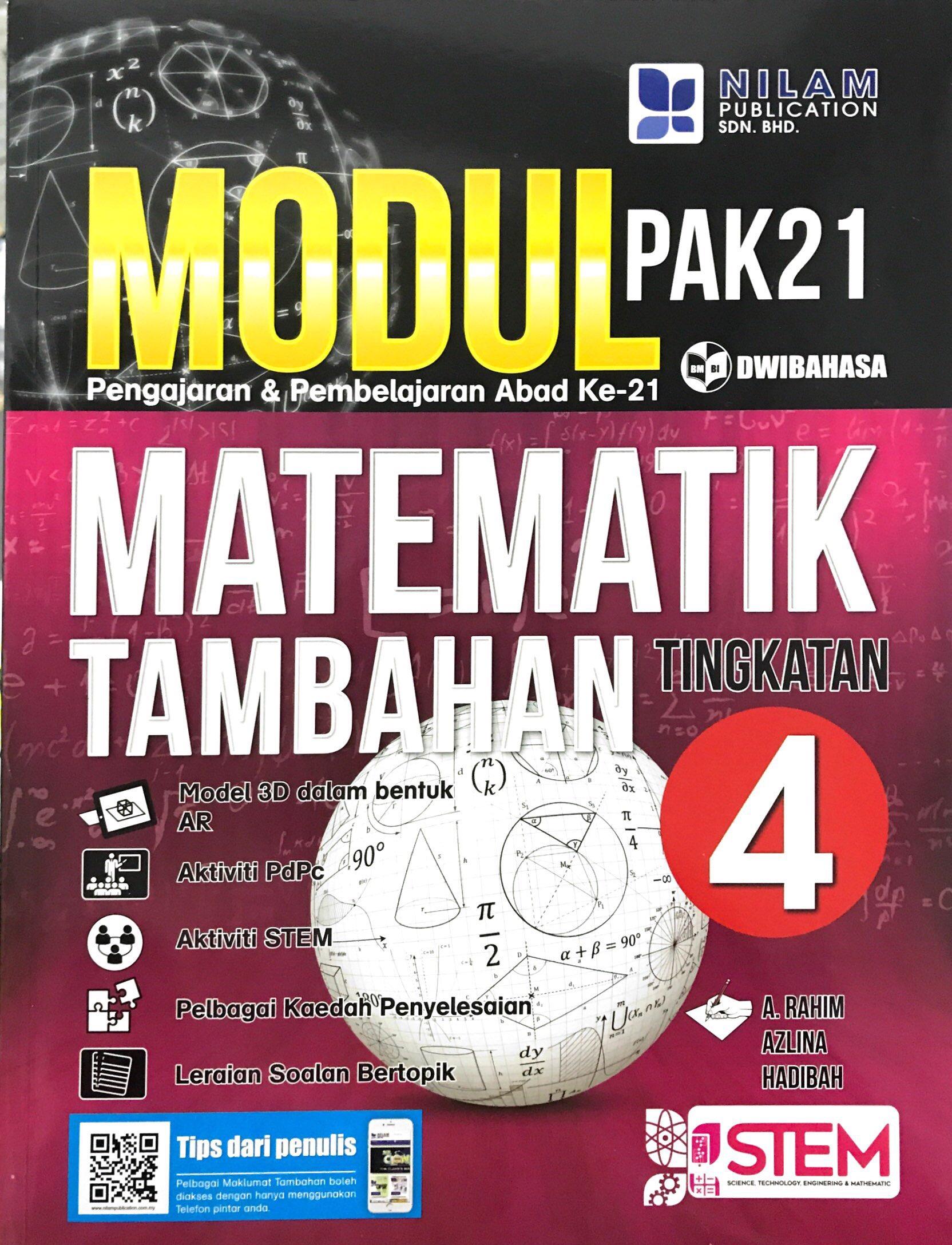 Modul Pengajaran & Pembelajaran Abad Ke-21 Matematik Tambahan Tingkatan 4 (2019)