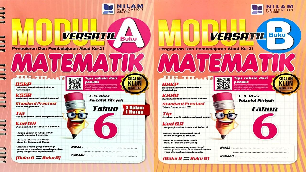 Modul Versatil 2 Dalam 1 Matematik Tahun 6 BM (2019)