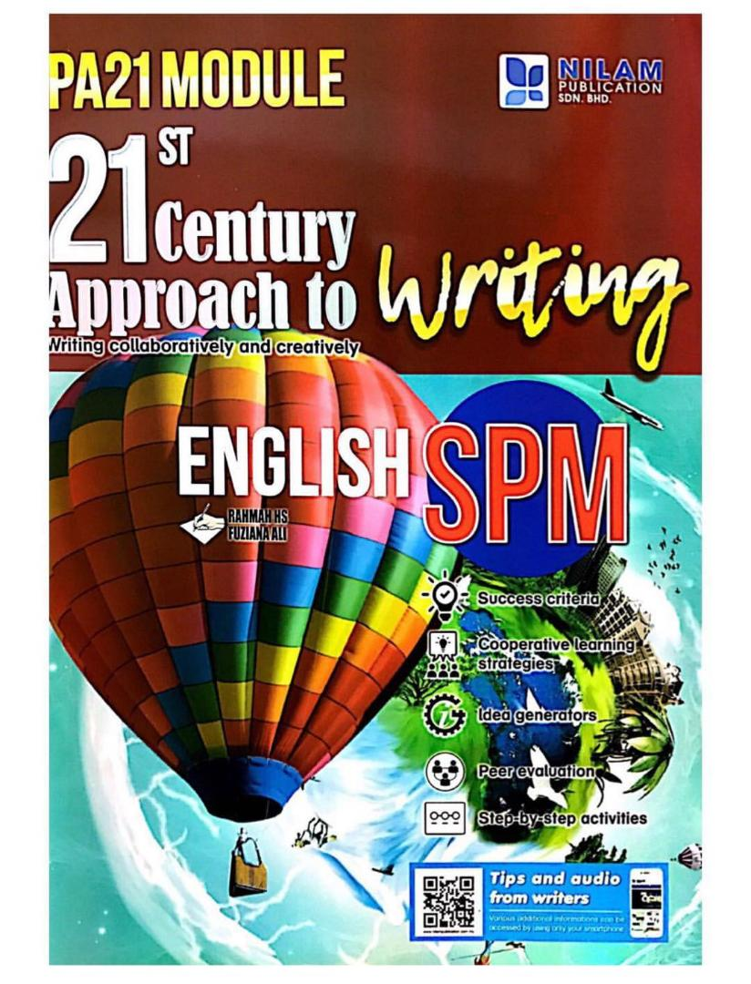 Modul Pengajaran & Pembelajaran Abad Ke-21 Edisi 2019  English Approach to writing