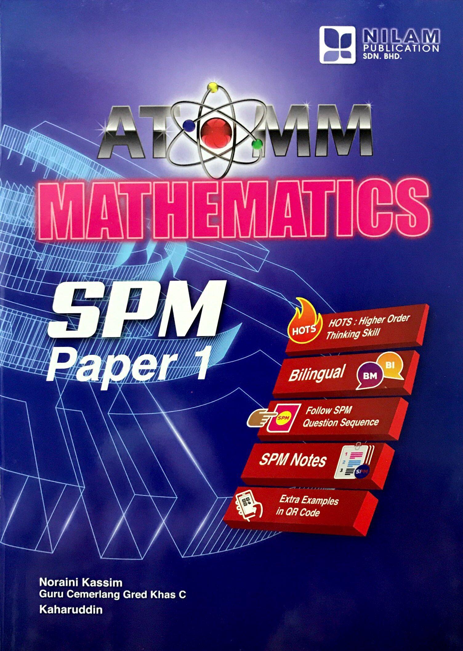 ATOMM Mathematics  SPM Paper 1 (2018)