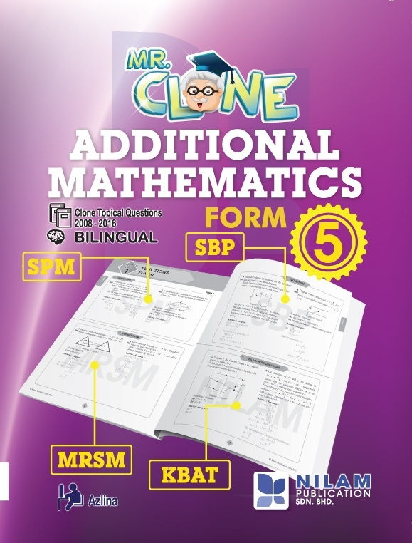 Clearance Stock Mr. Clone Additional Mathematics Form 5 (2017)